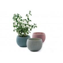 KETER COZIES Trio květináče 3ks, 15,5 x 15,5 x 10,5 cm, fialová, modrá, šedá 17202587