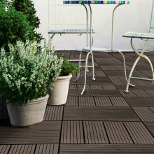 KETER Deck Tiles terasové dlaždice (set 9ks) hnědé 17199389