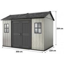 KETER OAKLAND 1175 SD zahradní domek, 350 x 229 x 254 cm, šedá/antracit 17204172
