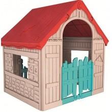 KETER FOLDABLE PLAY House dětský domek, béžová/červená/modrá 17202656