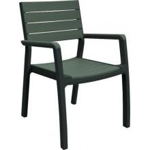 VÝPRODEJ KETER HARMONY zahradní židle, antracit/hnědo-šedá 17201284, PRASKLÁ