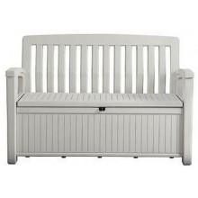 KETER PATIO BENCH úložná lavice 138,6 x 63,5 x 88 cm, 227 L, bílá 17202690