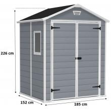 KETER MANOR 6 x 5 DD zahradní domek, 185 x 152 x 226 cm 17197128