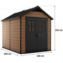 KETER NEWTON 7511 zahradní domek, 228 x 350 x 252 cm, hnědý 17208505