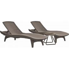 KETER PACIFIC Set cappuchino 2x lehátko + 1x stolek 17201591
