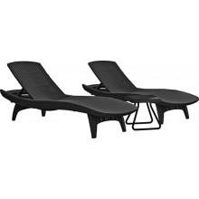 KETER PACIFIC Set grafit 2x lehátko + 1x stolek 17201591