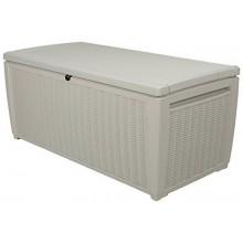 KETER STORAGE BOX zahradní úložný box ratan 145 x 73 x 64 cm 511 l, bílá 17205835