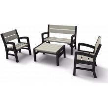 KETER Montero zahradní lavičkový set, grafit/šedá 17205049