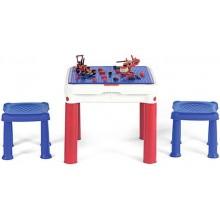 KETER CONSTRUC TABLE kreativní stolek a Lego, modrá/červená/bílá 17201603
