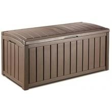 KETER GLENWOOD Stogare zahradní úložný box 128 x 65 x 61 cm, 390 l, hnědá 17193522