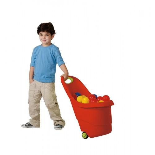 KETER KIDDIES GO vozíček - červený 15l, 17183001