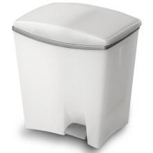 KIS DUETTO 20+10L odpadkový koš 39x29x43cm bílý