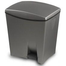 KIS DUETTO 20+10L odpadkový koš 39x29x43cm šedý