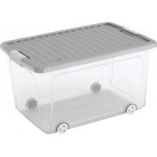 KIS W BOX L 50L 56,5x39x31,5cm transparentní/šedé víko