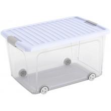 KIS W BOX L 50L 56,5x39x31,5cm transparentní/sv.modré víko