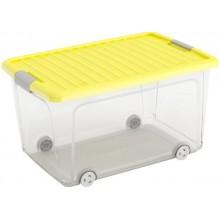 KIS W BOX L 50L 56,5x39x31,5cm transparentní/žluté víko