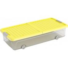 KIS W BOX UNDERBED L 35L 74x37x16,5cm transparentní/žluté víko