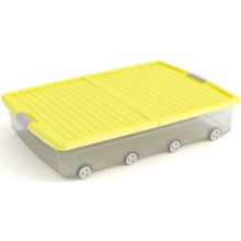 KIS W BOX UNDERBED XL 55L 79x58x16,5cm transparentní/žluté víko