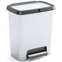 KIS COMPATTA RECYCLING STYLE 20+20L STEEL odpadkový koš 38x28x43cm