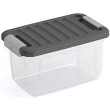 KIS W BOX XS 5L 28x18x17cm transparent/šedé víko