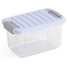 KIS W BOX XS 5L 28x18x17cm transparentní/sv. modré víko