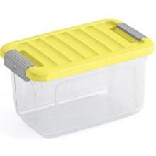 KIS W BOX XS 5L 28x18x17cm transparentní/žluté víko