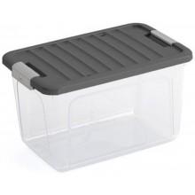 KIS W BOX M 30L 49x30x29cm transparentní/šedé víko
