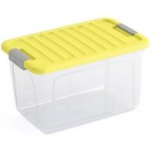 KIS W BOX M 30L 49x30x29cm transparentní/žluté víko