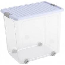 KIS W BOX XL 78L 57x39x52cm transparentní/sv.modré víko