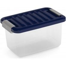 KIS W BOX XS 5L 28x18x17cm transparent/modrá indigo