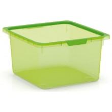 KIS KISKREO BOX M 39x35x20,5cm 17,5L zelený transparentní 8426100