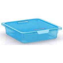 KIS KISKREO BOX S 39x35x9cm 7,5L tyrkysový transparentní 8426200