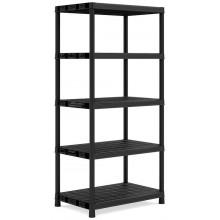 KIS PLUS XL/5 regál 90x60x187cm, 5 polic, black 9505000
