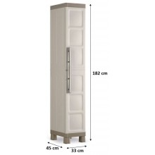 KIS EXCELLENCE HIGH 1 DOOR skříň 33x45x182cm beige 9673000
