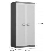 KIS LOGICO XL HIGH skříň 89x54x182cm grey/black 9694000