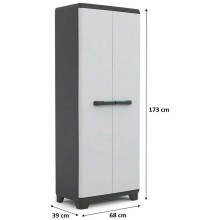 KIS LINEAR HIGH skříň 68x39x173cm grey/black 9713000