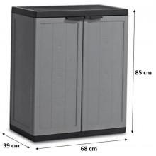 KIS JOLLY LOW skříň 68x39x85cm dark grey 9733000