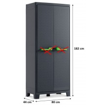KIS MOBY HIGH skříň 44x80x182cm tmavě šedá