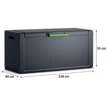 KIS MOBY CHEST 300L úložný box 118x49x55cm tmavě šedá