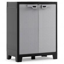 KIS TITAN LOW skříňka 80x44x100cm grey/black