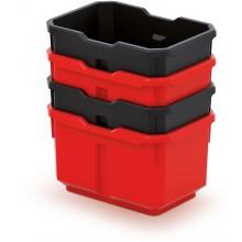 Kistenberg TITAN BOX Sada 4 plastových boxů, 15,6x11x19,5cm KTIS16