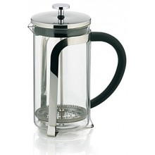 KELA Konvička na čaj a kávu French Press 1,1 L, nerez KL-10852