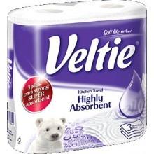 KLEENEX Welcomes Veltie Highly Absorbent Kuchyňské utěrky 2 role, 3-vrstvé 148602