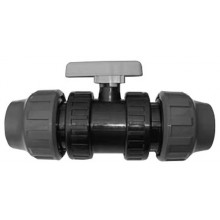 Kulový kohout PVC-U oboustranně svěrný 63 mm 141063