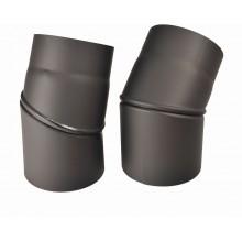 Koleno kouřovodu, přestavitelné 120mm 0-45° (1,5) černá