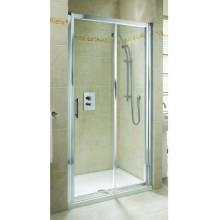 KOLO Geo-6 posuvné dveře 140 cm do niky nebo pro kombinaci s pevnou stěnou Geo-6, sklo čiré / rám stříbrný GDRS14222003A
