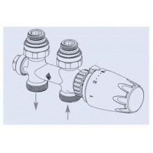 Korado připojovací armatura HM přímá bílá RAL 9010 Z-D023