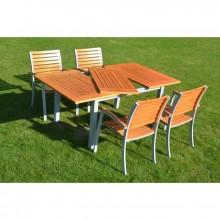 Stůl zahradní ISTRIA - FSC kov, borovice 353/11