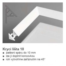 RAVAK Koncovka krycí lišty 10 bílá XB430001001