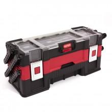KETER kufřík TRIO 3-dílný, 53 x 20 x 23 cm, červená/šedá/černá, 17198033